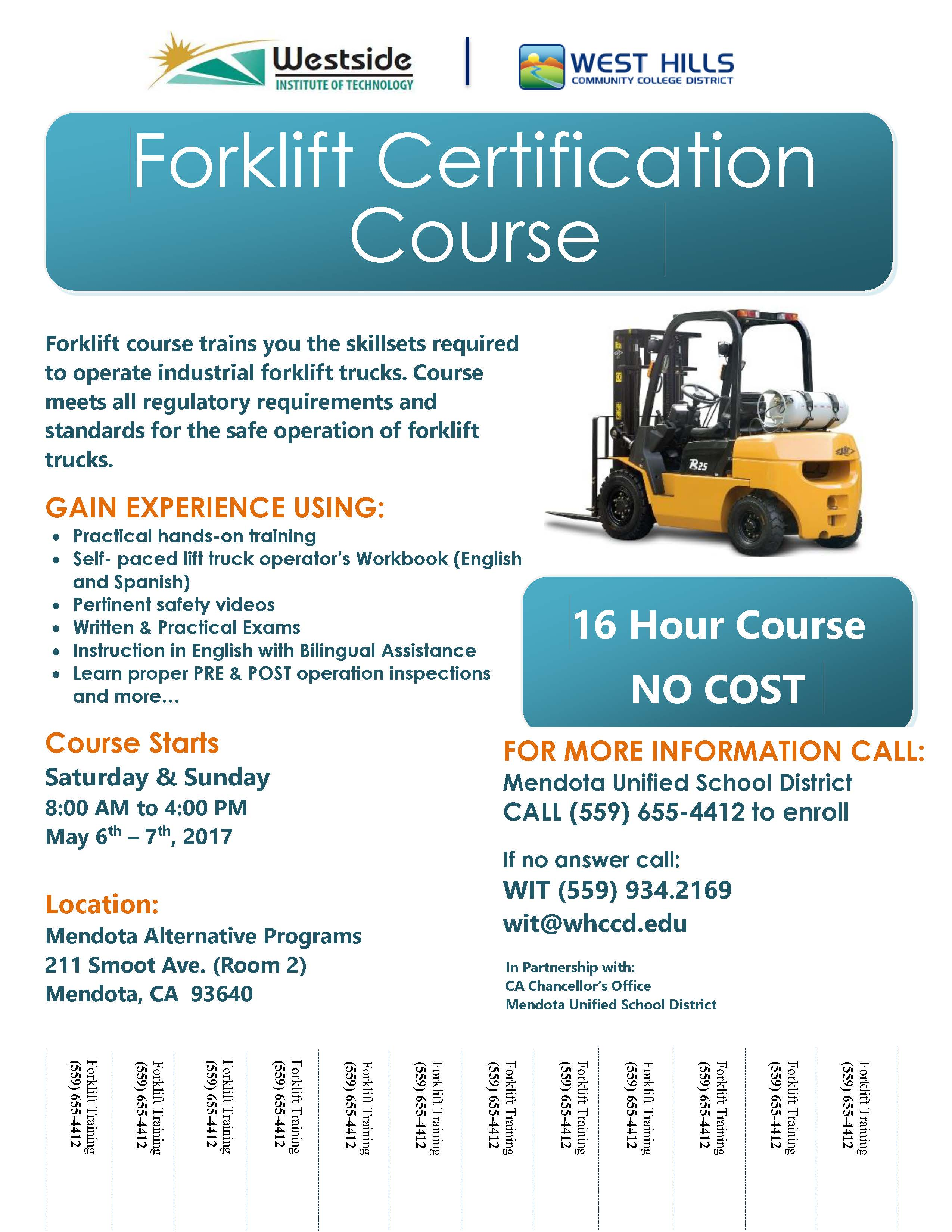 Forklift Certification Training Free Professional Resume