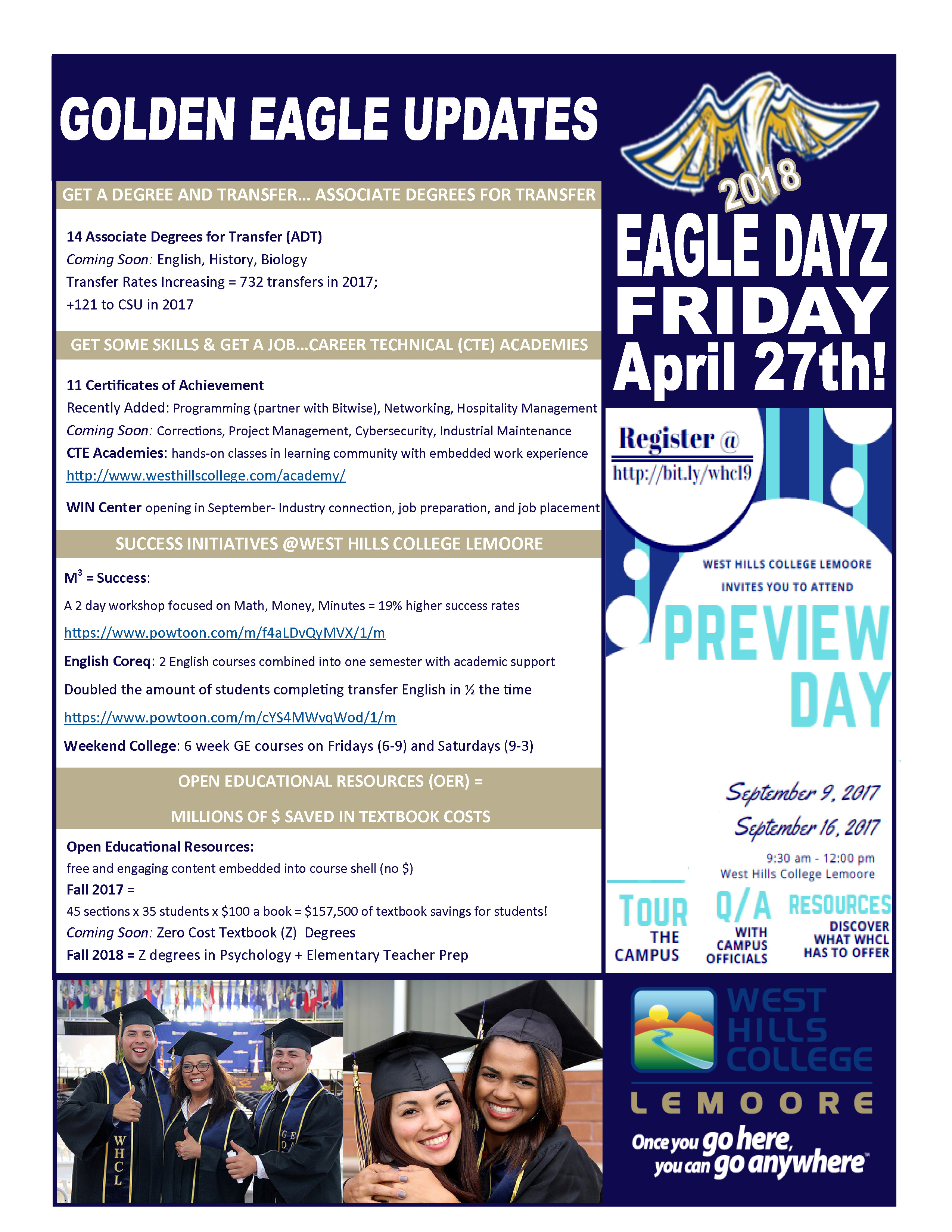 WHCL Golden Eagle Updates for HS Visits -fall 2017.jpg